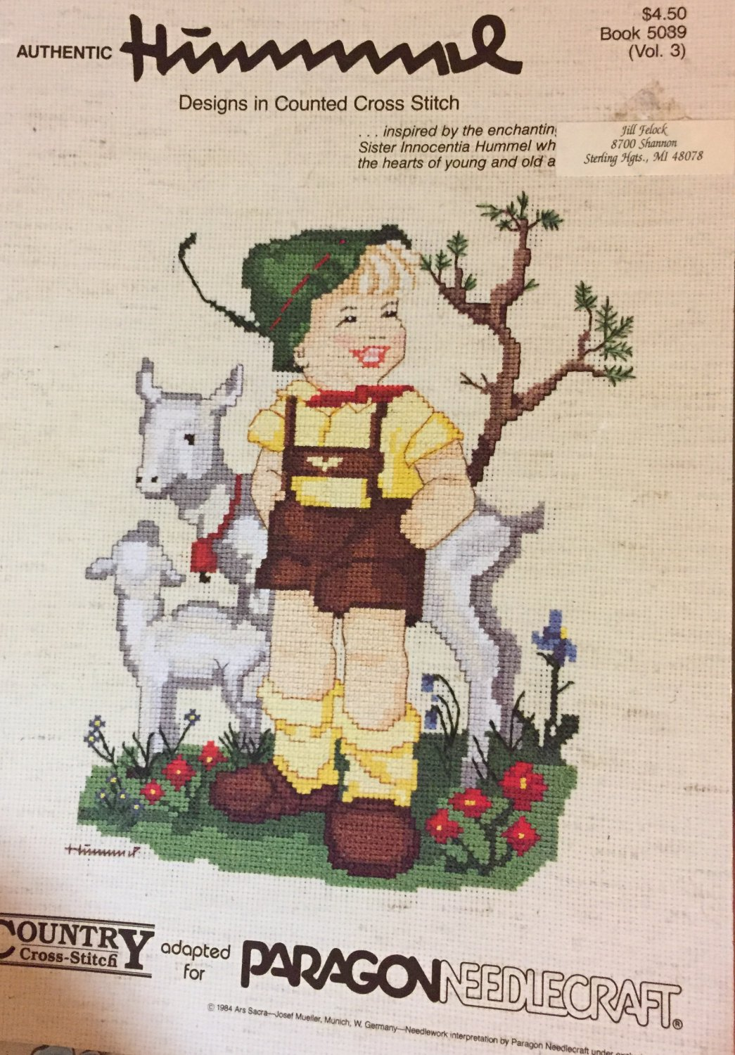 Hummel Designs in Counted Cross Stitch from Paragon