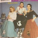 Simplicity Sewing Pattern 5403 Misses Costumes size 6 8 10 12 Poodle Skirt