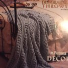 More Decorative Throws to Knit Patons 909 afghan knitting pattern