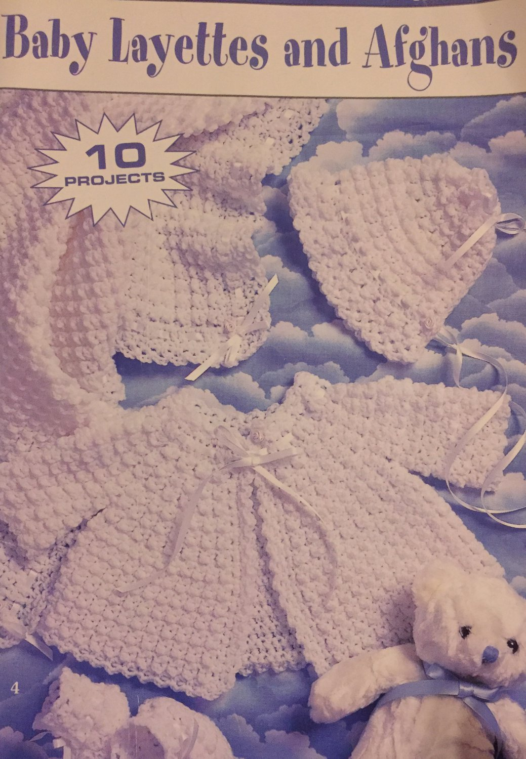 Leisure Arts 75027  Baby Layettes and Afghans Crochet Pattern