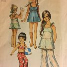 Simplicity 8813 Size 4 Swimsuit Bathing Suit Swimsuit Bell Bottoms Girls Sewing Pattern