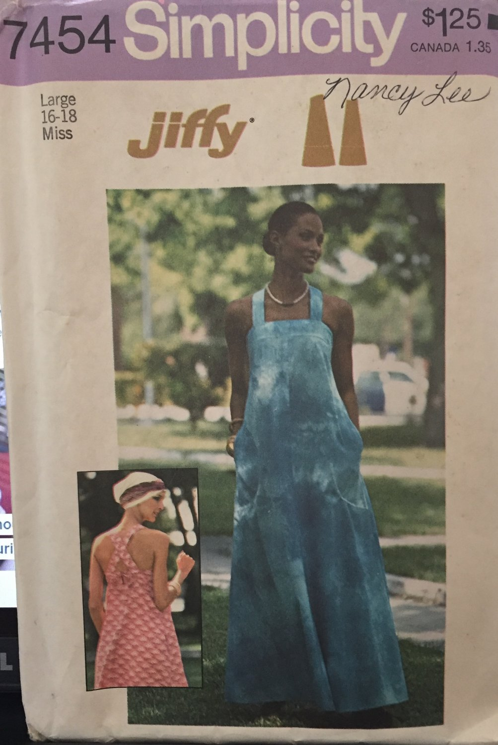 Vintage sewing pattern Simplicity 7454 sun dress Crossed Straps Size 16 18  PATTERN HAS SOLD!