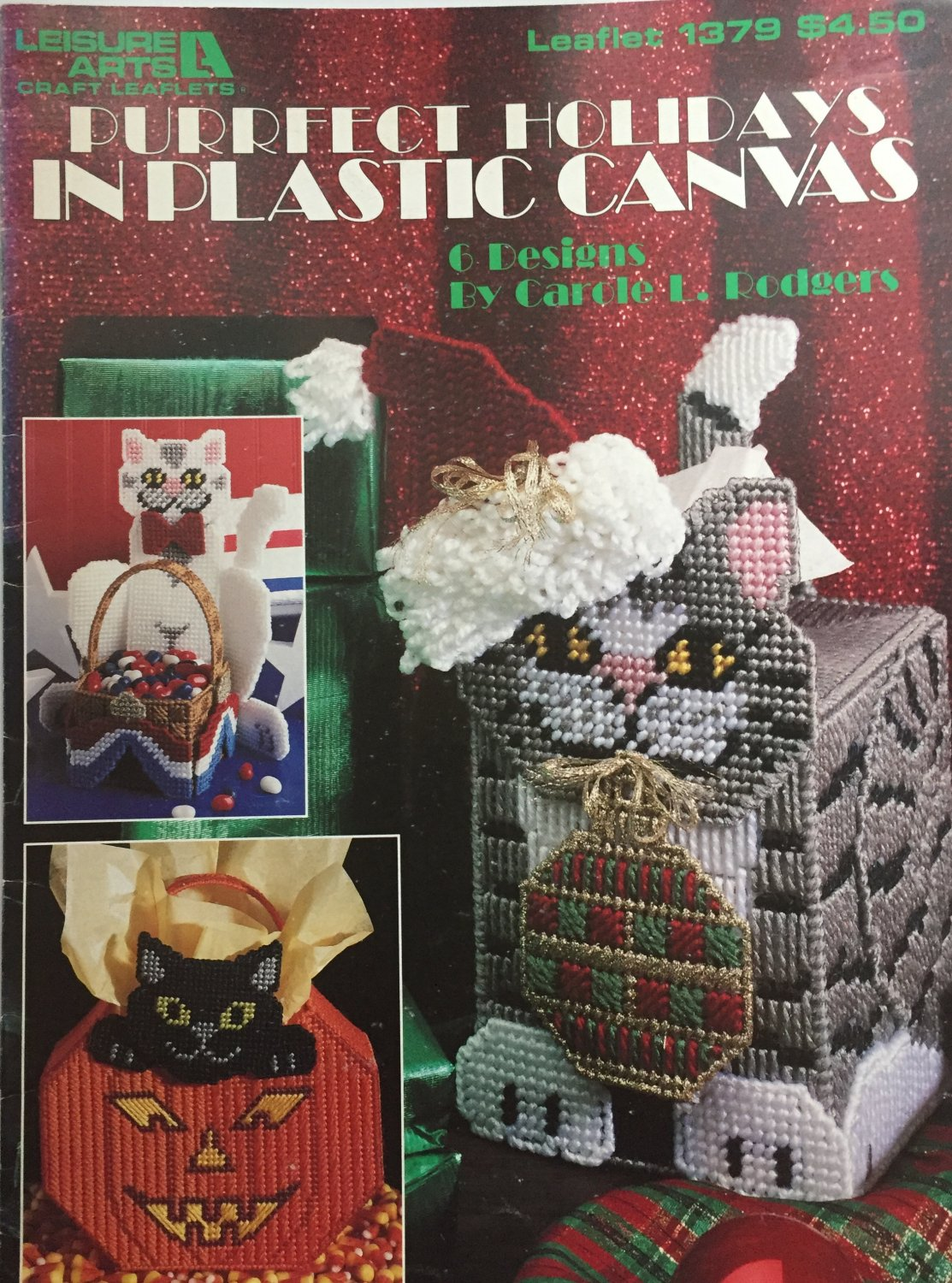 Plastic Canvas Purrfect Holidays Leisure Arts 1379 Features Christmas and other holidays
