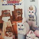Bow Wow Meow Bath Set  In Plastic Canvas - Plastic Canvas Pattern Annie's Attic 87W76