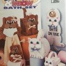 Bow Wow Meow Bath Set  In Plastic Canvas - Plastic Canvas Pattern Annie's Attic 87W76