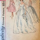 1960's Simplicity 4893 Wedding Gown Sewing Pattern Size 12 bust 32""