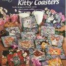 American School of Needlework 3201 A Dozen Kitty Coasters Plastic Canvas Pattern