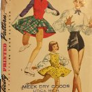 Simplicity 4076 Skating Tap Dance Skirt Trunks Blouse Vintage Sewing Pattern size 14