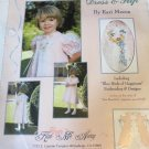 Sweet Harmony Embroidered Dress & Slip Sewing Pattern size 2-12 Blue Bird embroidery designs