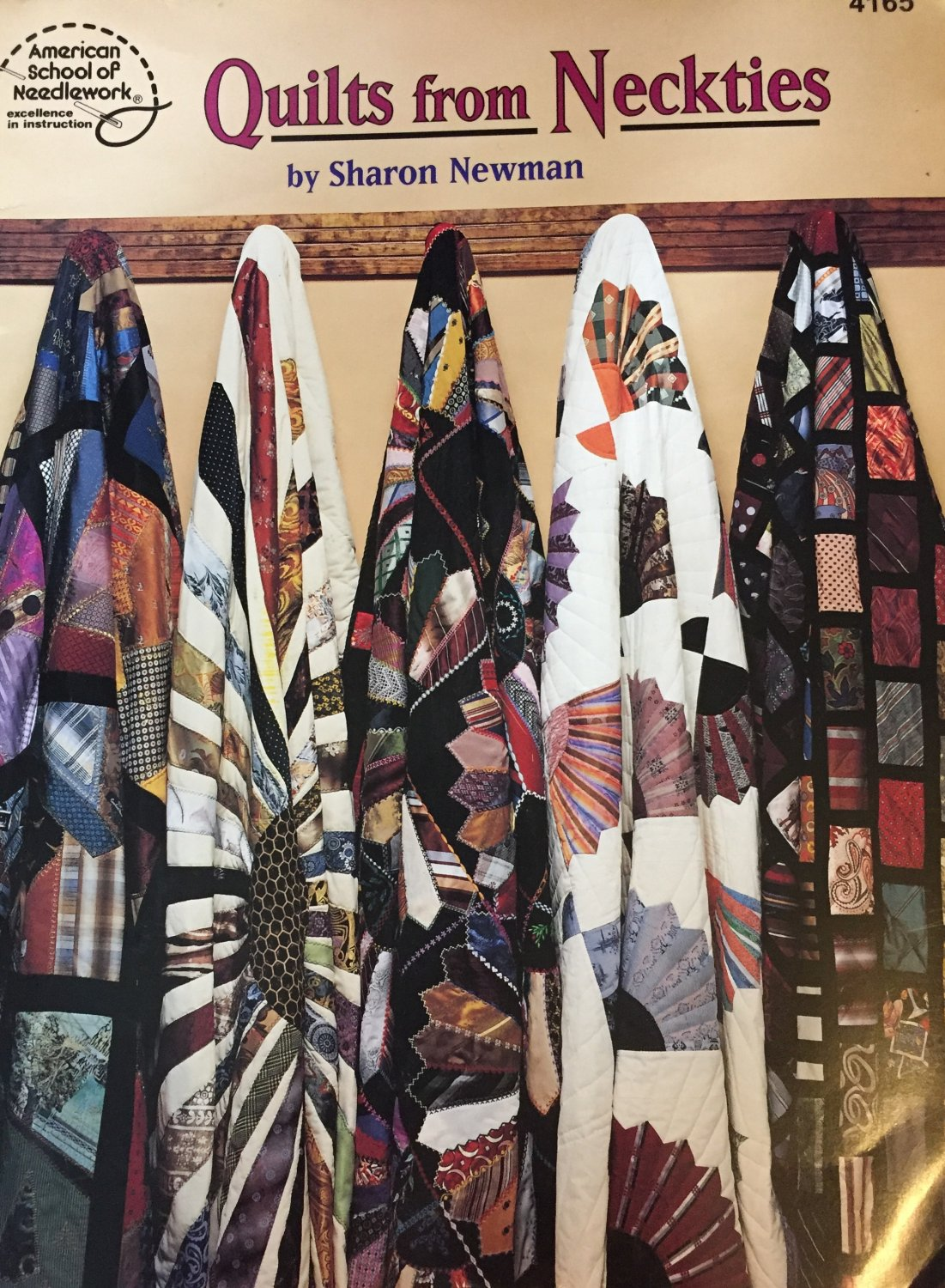 Quilts from Neckties by Sharon Newman. American School of Needlework Quilting Pattern Book 416