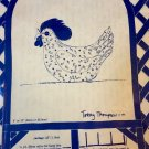 Quilt Country Soft Sculpture Sewing Pattern MARGIE'S HEN.