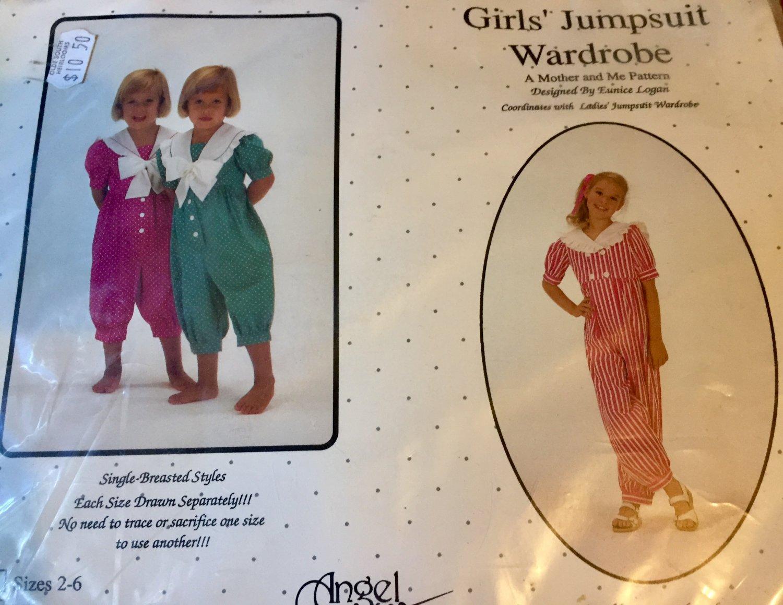 Angel Wears Sewing Pattern Girls Jumpsuit Wardrobe  2-6