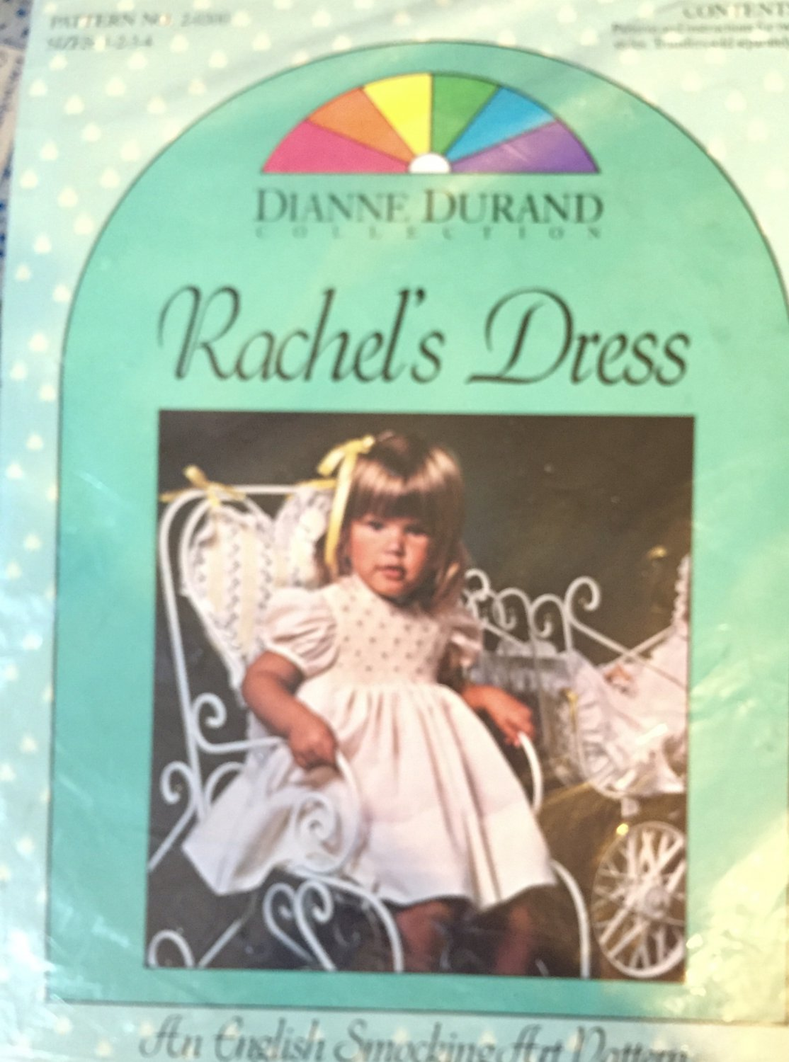 Rachel's Dress an English Smocking Sewing Pattern Dianne Durrand Collection Size 1-4 #2-0300