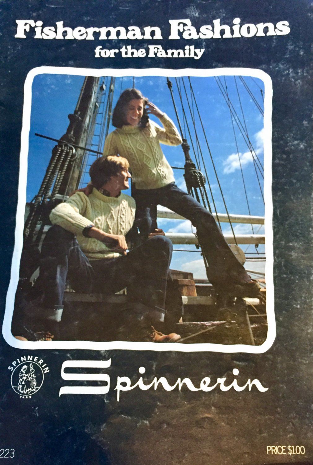 Fisherman's Fashions for the Family Aran Sweaters Spinnerin 223