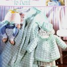 Leisure Arts 3202 Precious Layettes to Knit knitting Pattern Worsted Weight Yarn
