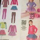 Simplicity Pattern 1785 Girls Sportswear: Skirt and Knit Dress, Top, Leggings Size infant to 3