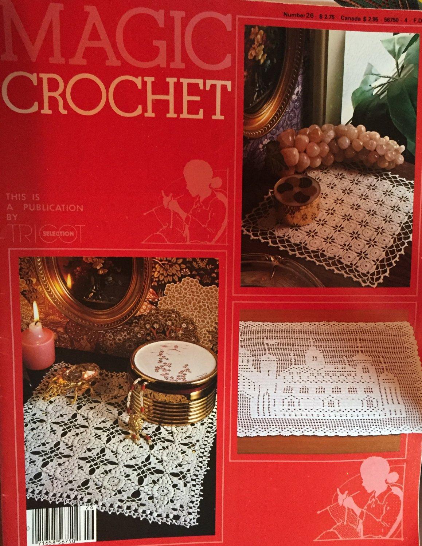 Magic Crochet Pattern Magazine Number 26 1983