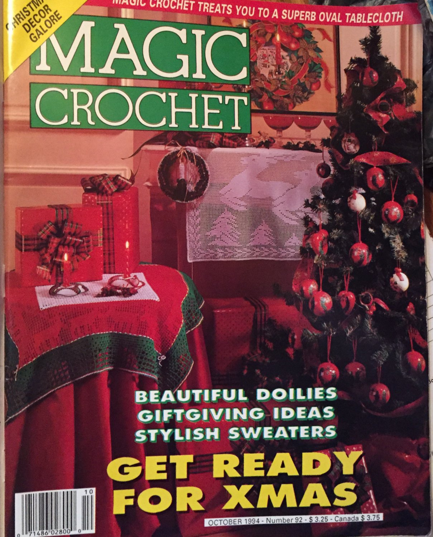 Magic Crochet Pattern Magazine Number 92 October 1994 Christmas decor