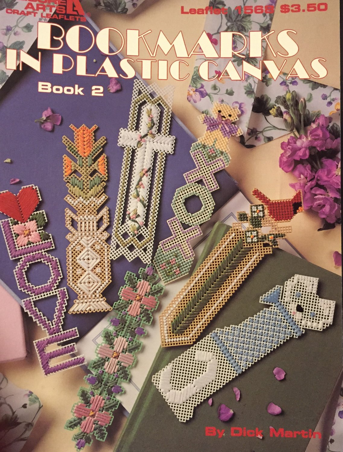 Bookmarks in Plastic Canvas Pattern Book 2  Leisure Arts 1568