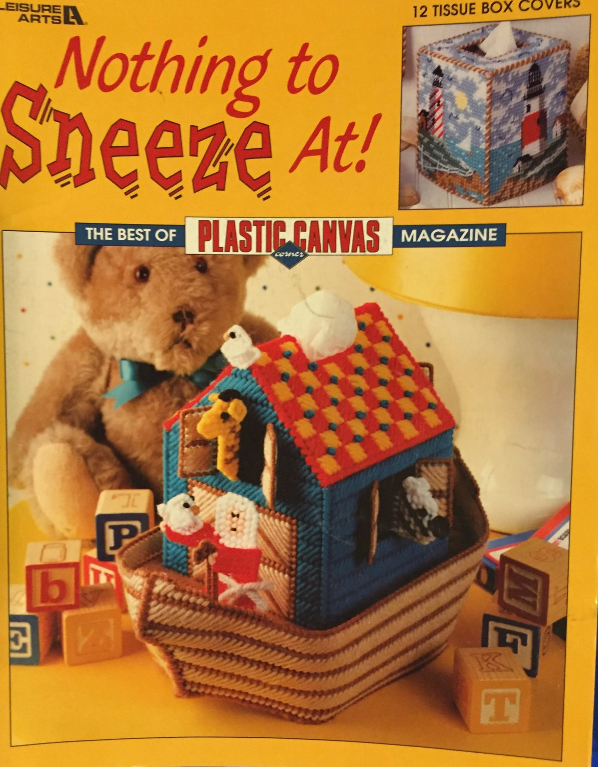Tissue Box Covers NOTHING To SNEEZE At 12 Plastic Canvas Patterns Leisure Arts 3416