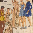 Butterick 3405 John Kloss Misses Nightgown Baby Dolls Bikini Panties Robe Pattern Size 14