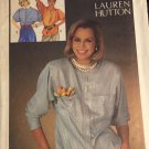 Simplicity 6684 Lauren Hutton - Misses' Fly Front Blouses in Two Lengths Size 14