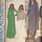 McCall's 5673 Marlo's Corner design - Marlo Thomas Misses' Dress or Top Size 14