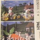 McCall's 7421 Bunnies carrot, chick, egg, and basket pattern Easter Crafts Pattern