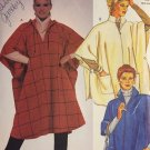Hooded Poncho/Cape in Two Lengths Sewing Pattern Easy McCalls 2109  Size 6-20 Bust 30-42