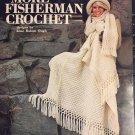 More Fisherman Crochet Sweaters Pattern Booklet Leisure Arts 106 Irish Aran style Crochet