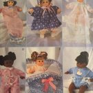 "Vogue 8495 Baby Doll Clothes Patterns 14"" pattern, Doll Bunting Bag Pattern Included"