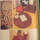 Simplicity 8408 Braided Rug Place Mat,Coaster Napkin Ring Napkin Wall Hanging Pillow Pattern