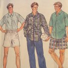 Men's Size 38, 40, 42, 44 Shirt, Pull-On Pants or Shorts, Shirt. Simplicity 8901 Sewing PATTERN,