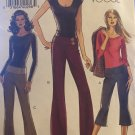 Vogue 8157 Below Waist Pants in two lengths sewing pattern sizes 6 8 10 12