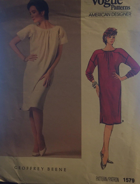 Vogue American Designer 1579 Geoffrey Beene Misses Dress.Size 8