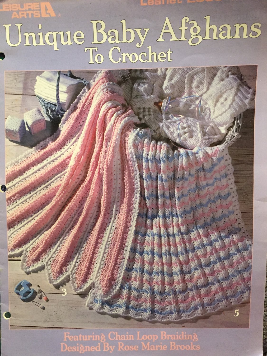 Unique Baby Afghans to Crochet Pattern Book Leisure Arts 2335