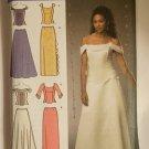 Misses' Plus Size Formal Dress Pattern Off Shoulder 2 Piece Dress Bridesmaid Simplicity 4689