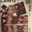 Bear Dolls McCall's Crafts 5172 Vintage Uncut Sewing Pattern