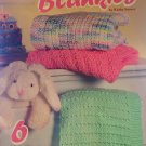 Baby Afghans Easy Timeless Blankets 6 knitted designs American School of Needlework 1445