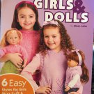 "Matching Knits for Girls and Dolls Sizes 2-12 -18"" Dolls American School of Needlework 1443"