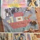 Noah's Ark for Baby. Leisure Arts Crochet Pattern Booklet 2964 Giraffes Elephants Afghans