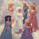 Fashion Doll Wedding Dresses in Thread Crochet 1108 by Miriam Dow
