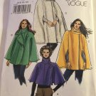 VOGUE 8162 Misses Cape Sewing Pattern Sizes 6 -12