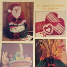 Holiday Keepers Plastic Canvas Leisure Arts 1246 Pattern Santa's Bag Heart Easter Basket Pumpkin