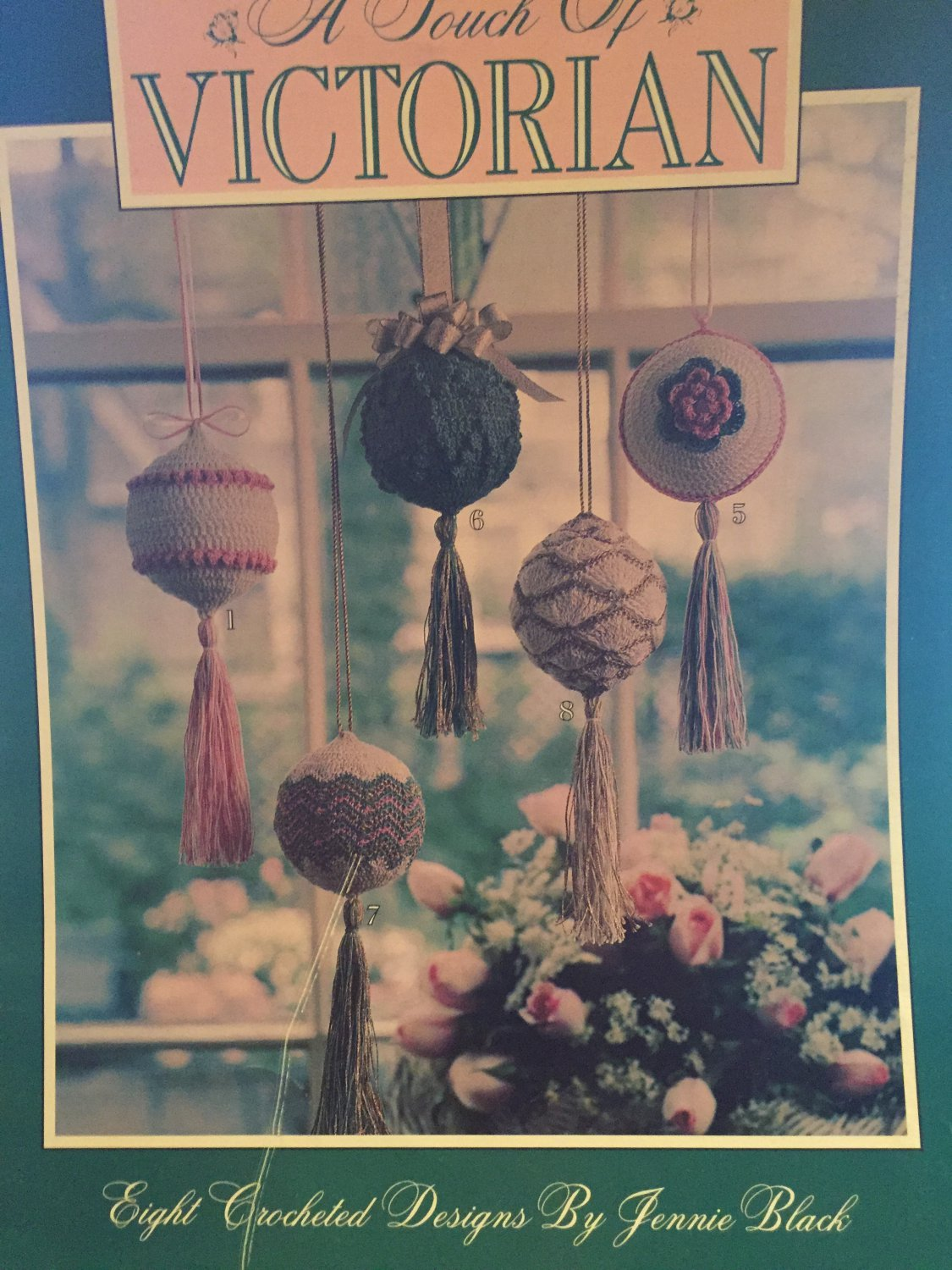 Victorian Ornaments thread crochet pattern Leisure Arts 2255 ¨A Touch of Victorian¨