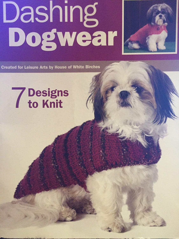 Dashing Dogwear Knitting Pattern Leisure Arts 4485 Doggy Sweaters