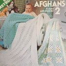 Baby Afghans 2 to Knit and Crochet VIntage Leisure Arts Pattern 101 Extra Easy from 1977