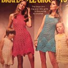 Mini Dresses Crochet vests Columbia Minerva 2519 Big & Little Crochets 1970's