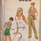 Culottes Summer Top Sewing Pattern Simplicity 8522 RETRO 1978 Size 14