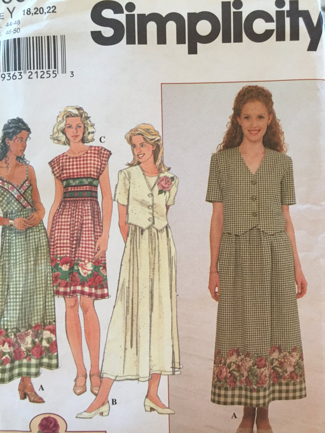 Simplicity 8007  Pattern Womens Dress with Jacket in Variations Size 18 - 22 UNCUT